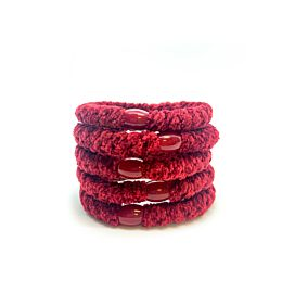 Hoops Velvet Ruby Red 4+1