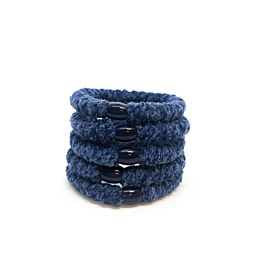 Hoops Velvet Deep Blue 4+1
