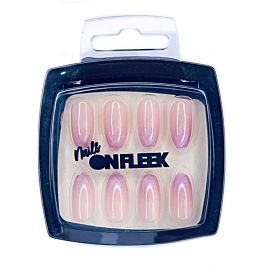 Nails On Fleek Pink Ombre Glitter Nail Kit