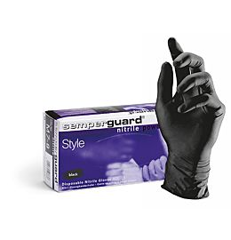 Sorte Semperguard Style Medium Powderfree Nitril