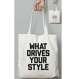 "Crew ""What Drives Your Style\"" Fabric Bag"