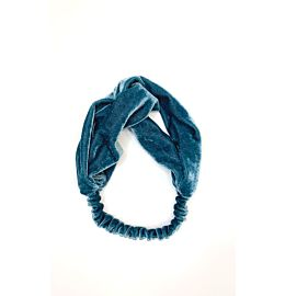Velvet Headband Light Blue